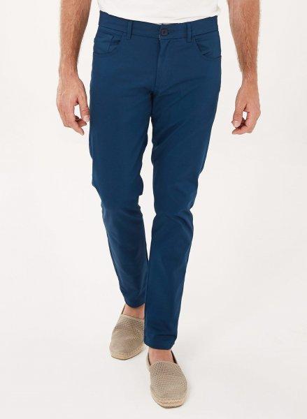 Tight Fit 5-Pocket-Hose aus Bio-Baumwolle - navy
