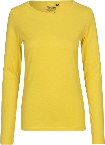 Longsleeve aus Fairtrade Bio-Baumwolle - yellow