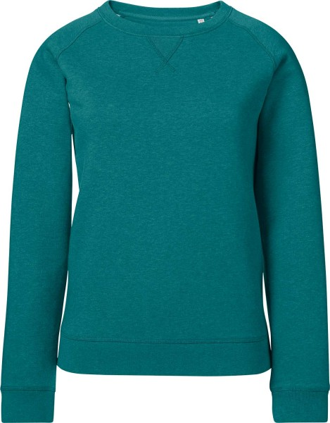 Sweatshirt Bio-Baumwolle - mid heather teal