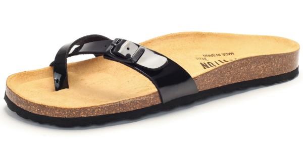 Zehensandale mit Fußbett - charol sintetico - negro