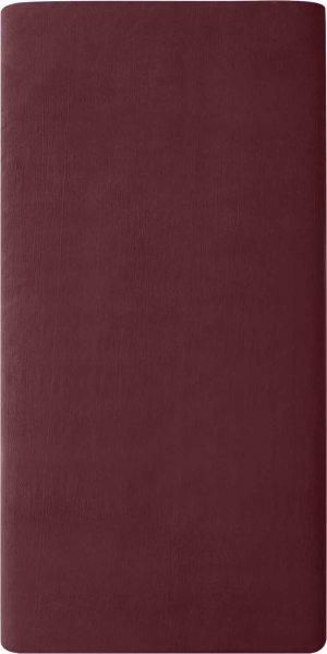 Flanell-Spannbetttuch aus Bio-Baumwolle 100x200cm - barolo