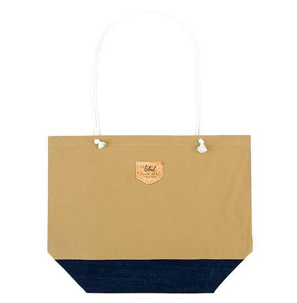 Strandtasche aus recycelter Bio-Baumwolle - sand/navy - Bild 1