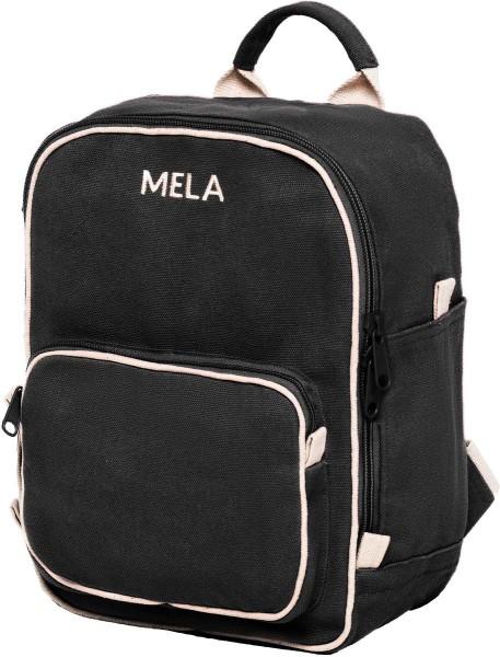 Fairtrade Rucksack MELA II Mini aus Bio-Baumwolle - schwarz