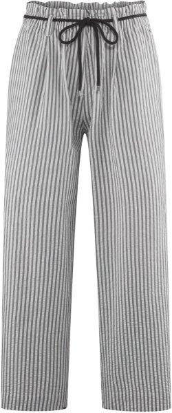 7/8-Hose aus Bio-Baumwolle - white/black