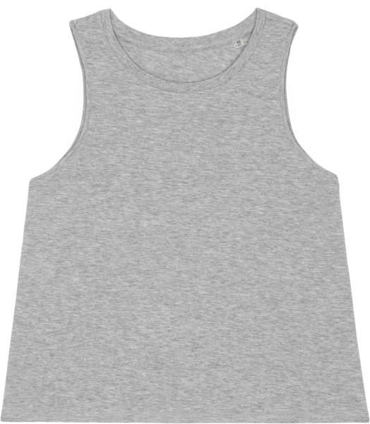 Kurzes Tank-Top aus Bio-Baumwolle - heather grey