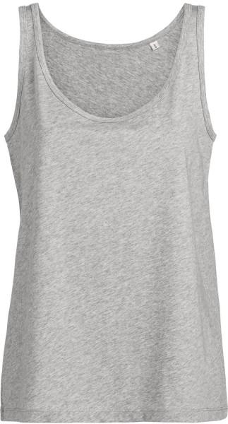Wishes - Weites Tank-Top aus Bio-Baumwolle - grau meliert - Bild 1