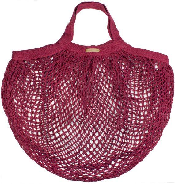 Kleine Netztasche aus Bio-Baumwolle - 36x40cm - red