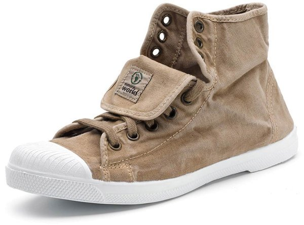 Bota Sport Enzimatico - Hohe Sneakers aus Bio-Baumwolle - beige - Bild 1