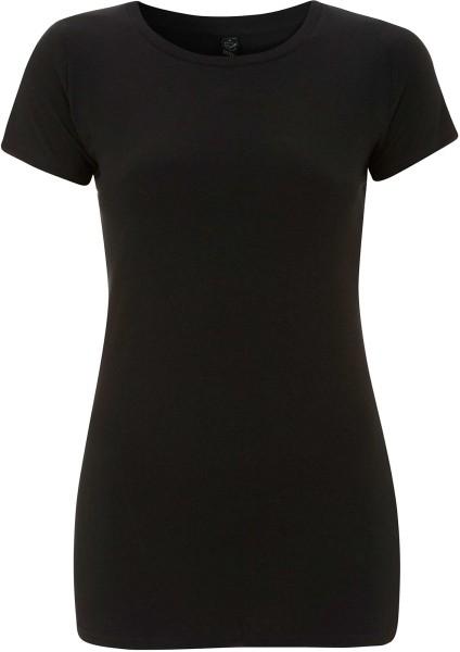 Organic Slim-Fit T-Shirt schwarz - Bild 1