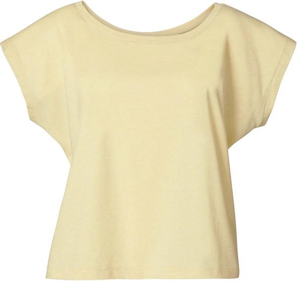 Flies - Weites T-Shirt mit U-Ausschnitt - heather yellow