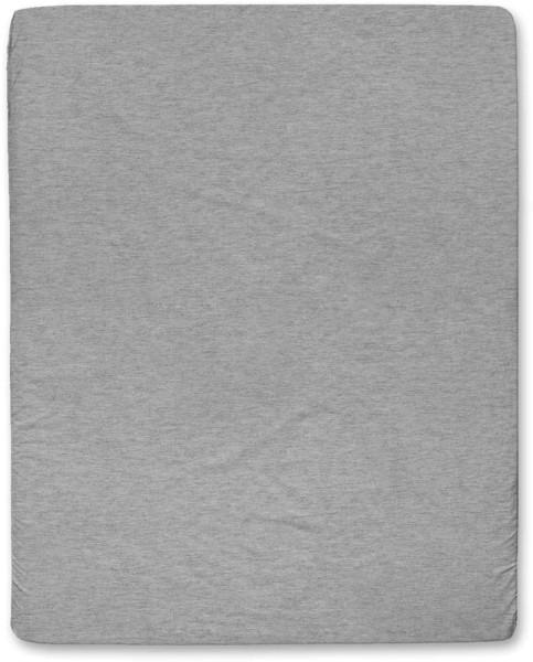 Spannbettuch aus Bio-Baumwolle - grau-meliert - 160 x 200 cm
