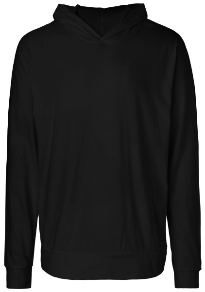 Jersey Hoodie Bio-Baumwolle schwarz O62101