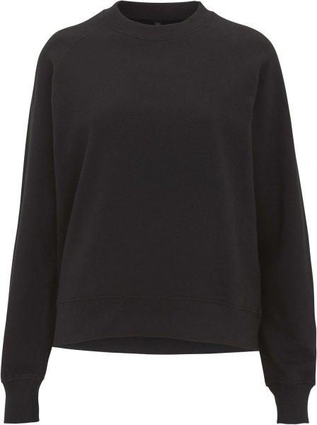 Raglan Sweatshirt aus Biobaumwolle - schwarz