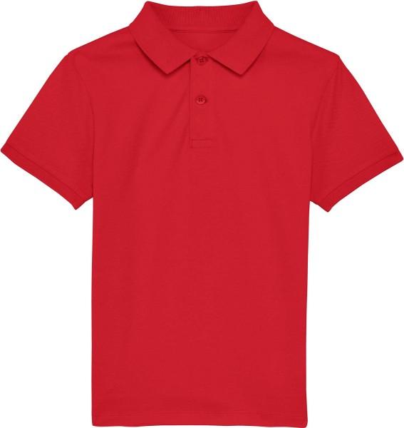 Kinder Polo-Shirt aus Bio-Baumwolle - red
