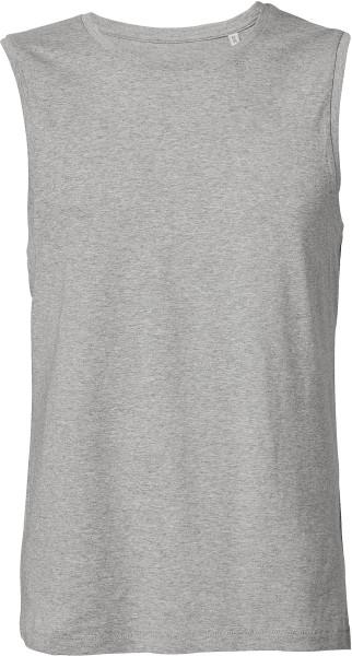 Ärmelloses T-Shirt aus Bio-Baumwolle - heather grey
