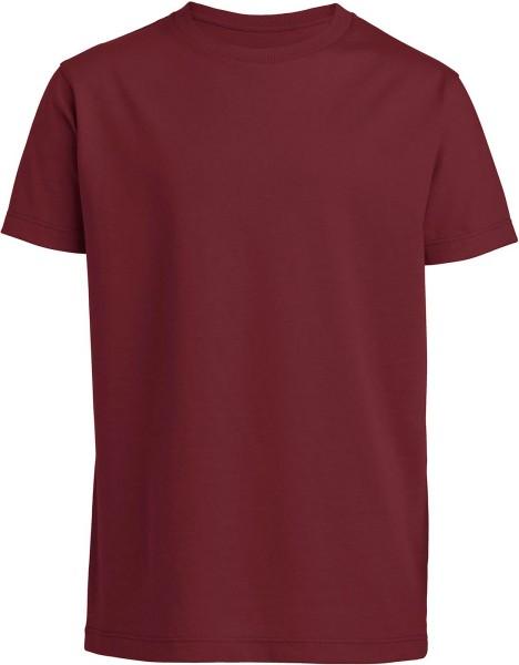 Kinder T-Shirt Bio-Baumwolle - burgundy