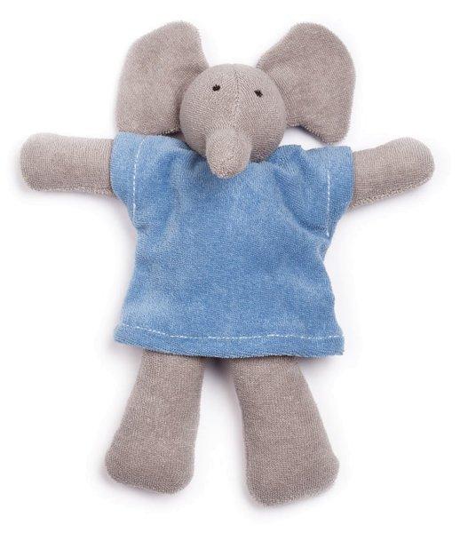 Frotteetier Ele - Puppe aus Bio-Baumwolle - blau - Bild 1