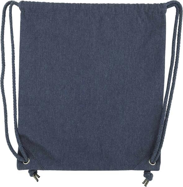 Beutel/Gym Bag aus recycelter Baumwolle - midnight blue