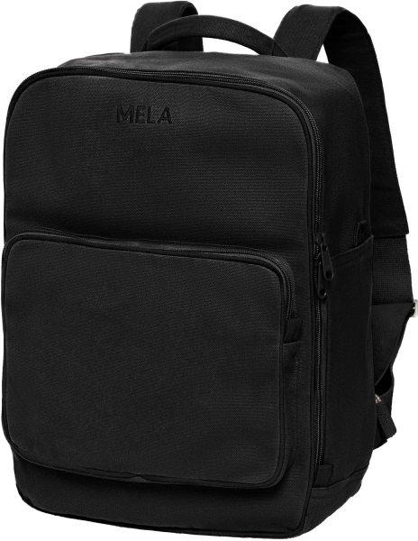 Fairtrade Rucksack MELA II aus Bio-Baumwolle - all black