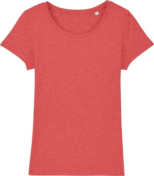 Jersey-Shirt aus Bio-Baumwolle - mid heather red