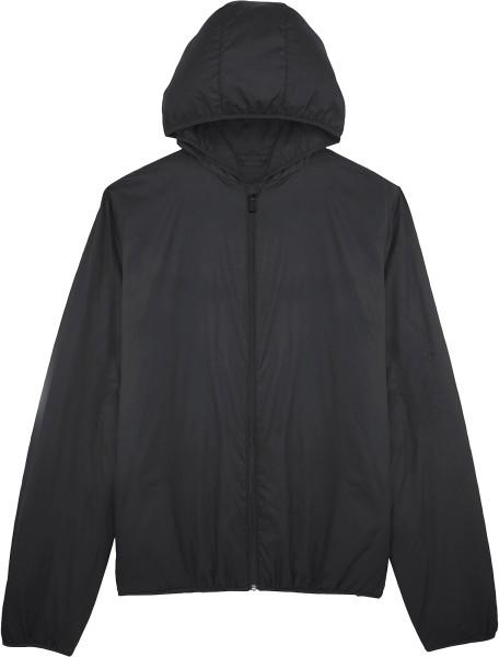 Wattiere Windjacke recyceltes Polyester - black
