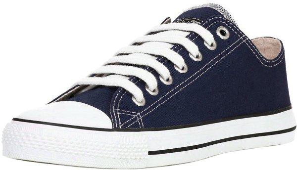 Flache Sneaker in ocean blue - Fairtrade