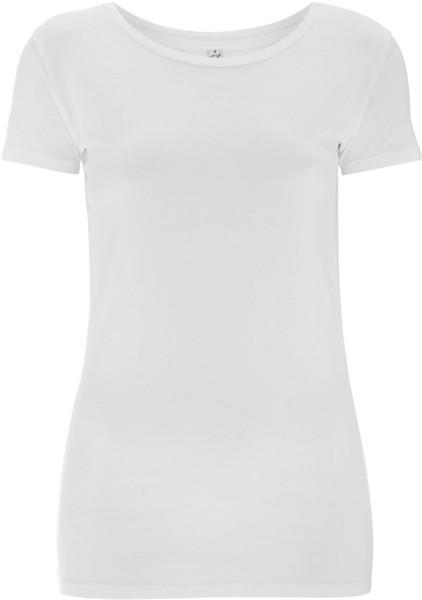 Frauen Stretch T-Shirt Bio-Baumwolle weiss EP05