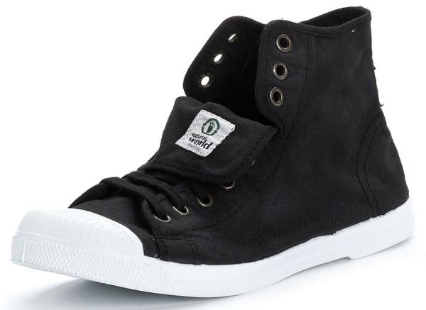 Bota Sport - Hohe Sneakers aus Bio-Baumwolle - negro - Bild 1