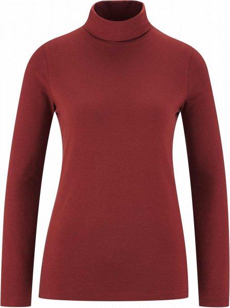 Rollkragen-Langarmshirt aus Bio-Baumwolle - chestnut