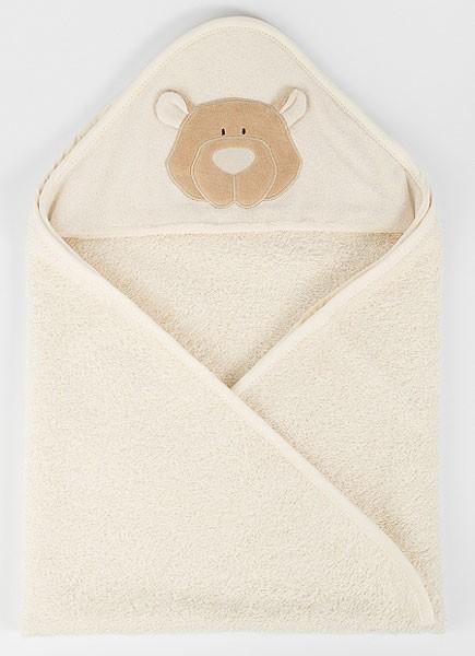 Baby-Handtuch Teddy mit Kapuze - Bio-Baumwolle - Bild 1