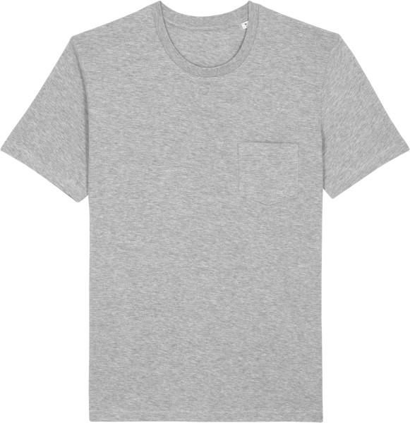 T-Shirt mit Brusttasche aus Biobaumwolle - heather grey