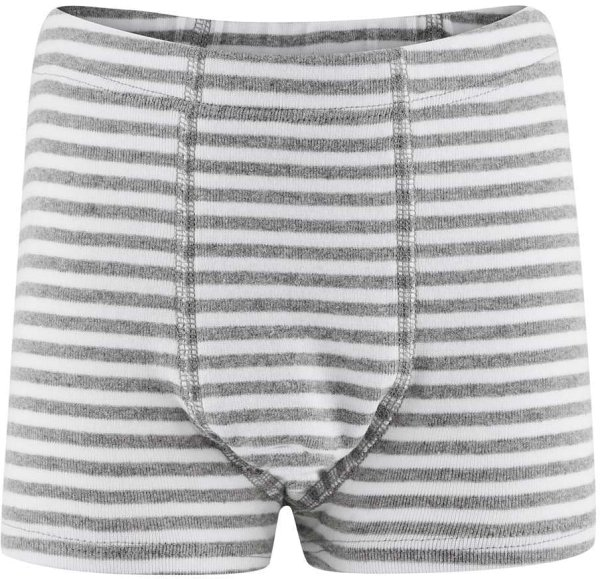 Kinder Jungs Shorts aus Bio-Baumwolle - grey/white striped - Bild 1