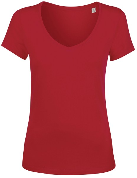 Chooses V-Neck T-Shirt Damen rot