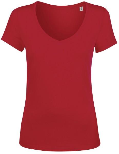 Chooses V-Neck T-Shirt Damen rot