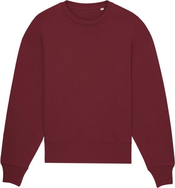 Oversized Unisex Sweatshirt aus Bio-Baumwolle - burgundy