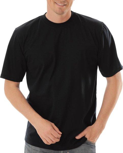 Klassisches T-Shirt aus Baumwolle - schwarz - Bild 1