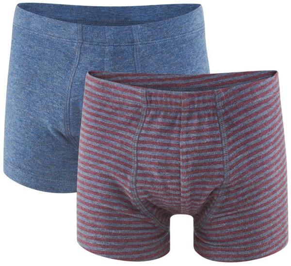 Jungen-Pants - Bio-Baumwolle - Doppelpack - ruby/indigo - Bild 1