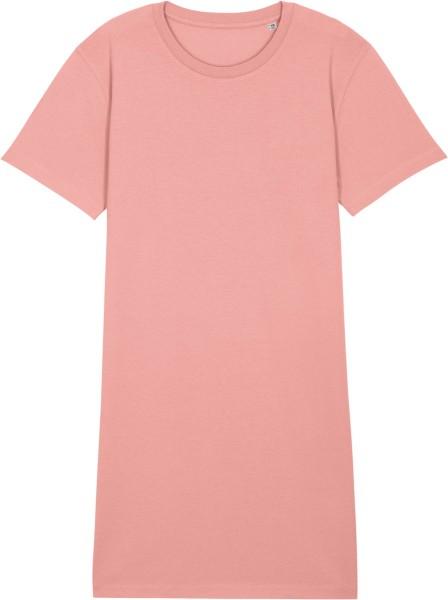 Jersey-Kleid aus Biobaumwolle - canyon pink