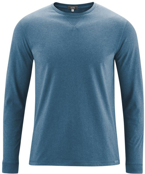 Langarmshirt aus Bio-Baumwolle - light petrol