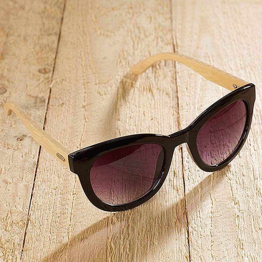 98eaa276a97053 Alicante - Eco-Sonnenbrille aus recyceltem Kunststoff & Bambus - shiny  black | grundstoff.net