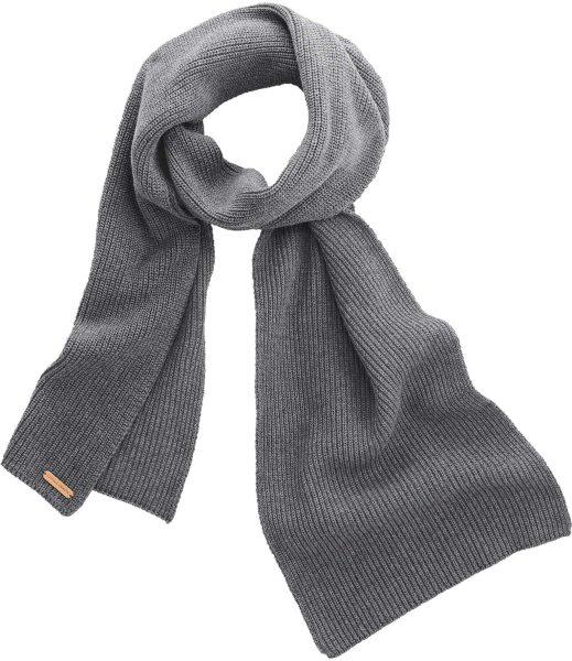 Strickschal aus Bio-Baumwolle - grey melange