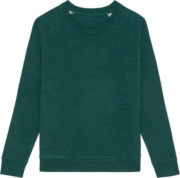 Sweatshirt aus Bio-Baumwolle - heather snow glazed green