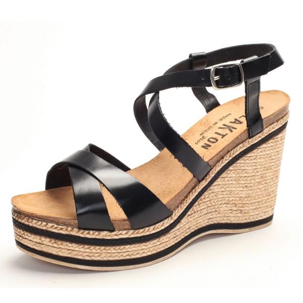 Hohe Sandalette schwarz fair