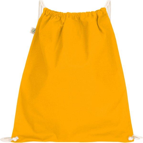 Organic Drawstring Gym Bag - gold