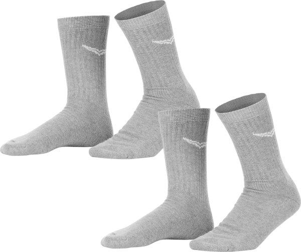 Socken - Doppelpack - grau meliert
