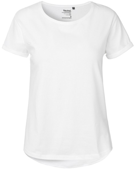 Rolled Up Sleeve T-Shirt white Neutral 80012
