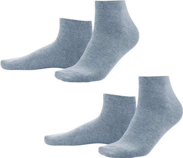 Sneaker-Socken aus Bio-Baumwolle - infinity blue