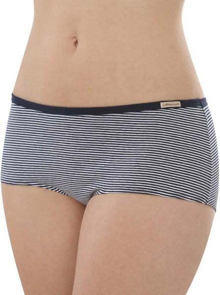 Panty aus Fairtrade Biobaumwolle - marine geringelt