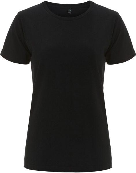 Organic Damen T-Shirt Bio-Baumwolle - schwarz