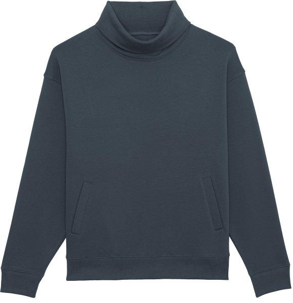 Unisex Rollkragen-Sweatshirt aus Bio-Baumwolle - india ink grey